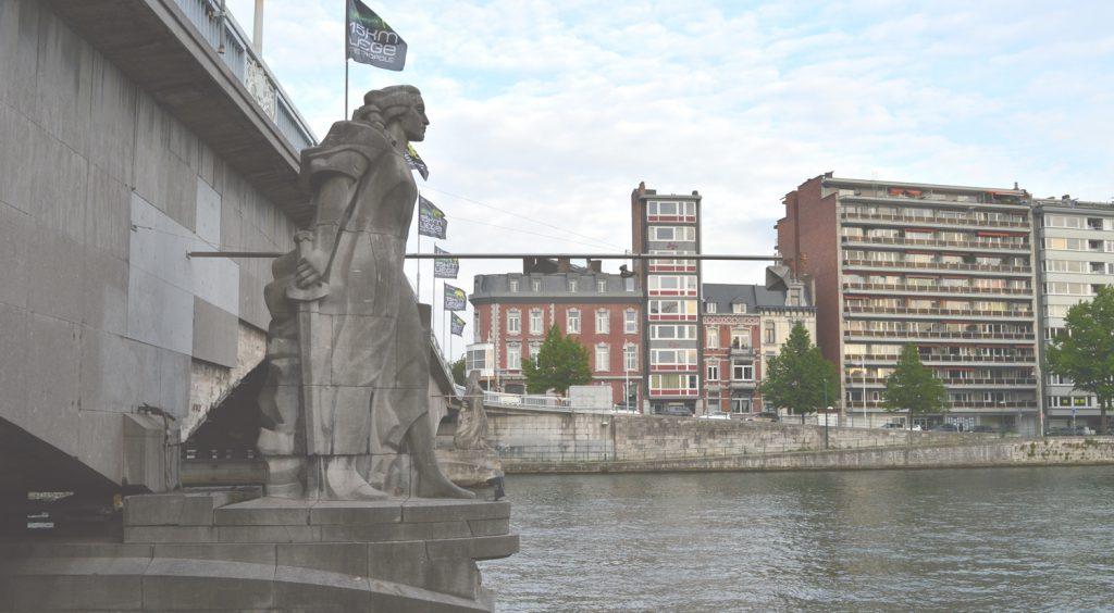 The River Meuse in Liège, Belgium