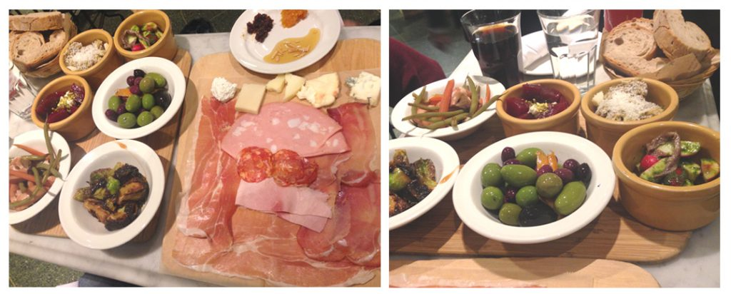 Antipasti at Eataly in New York