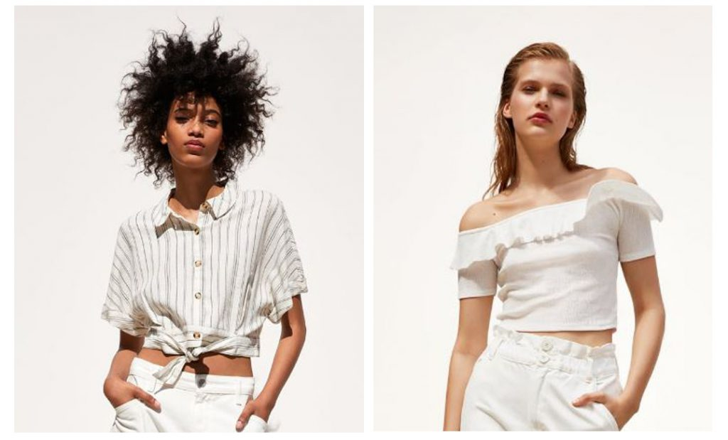 White crop Tops from Zara