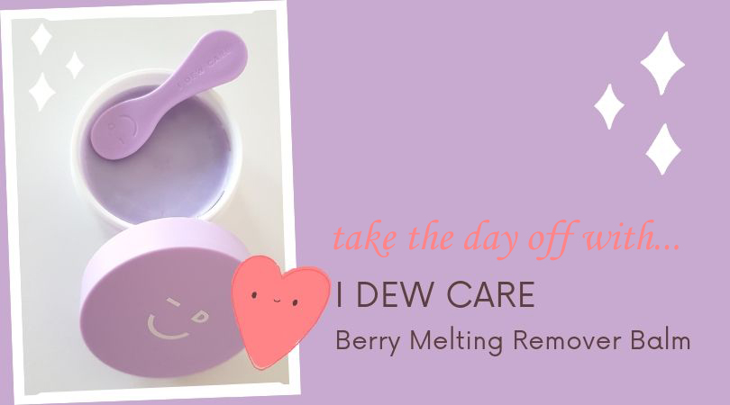 I dew care berry melting makeup remover