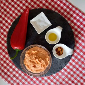 Easy Greek cheese and pepper dip